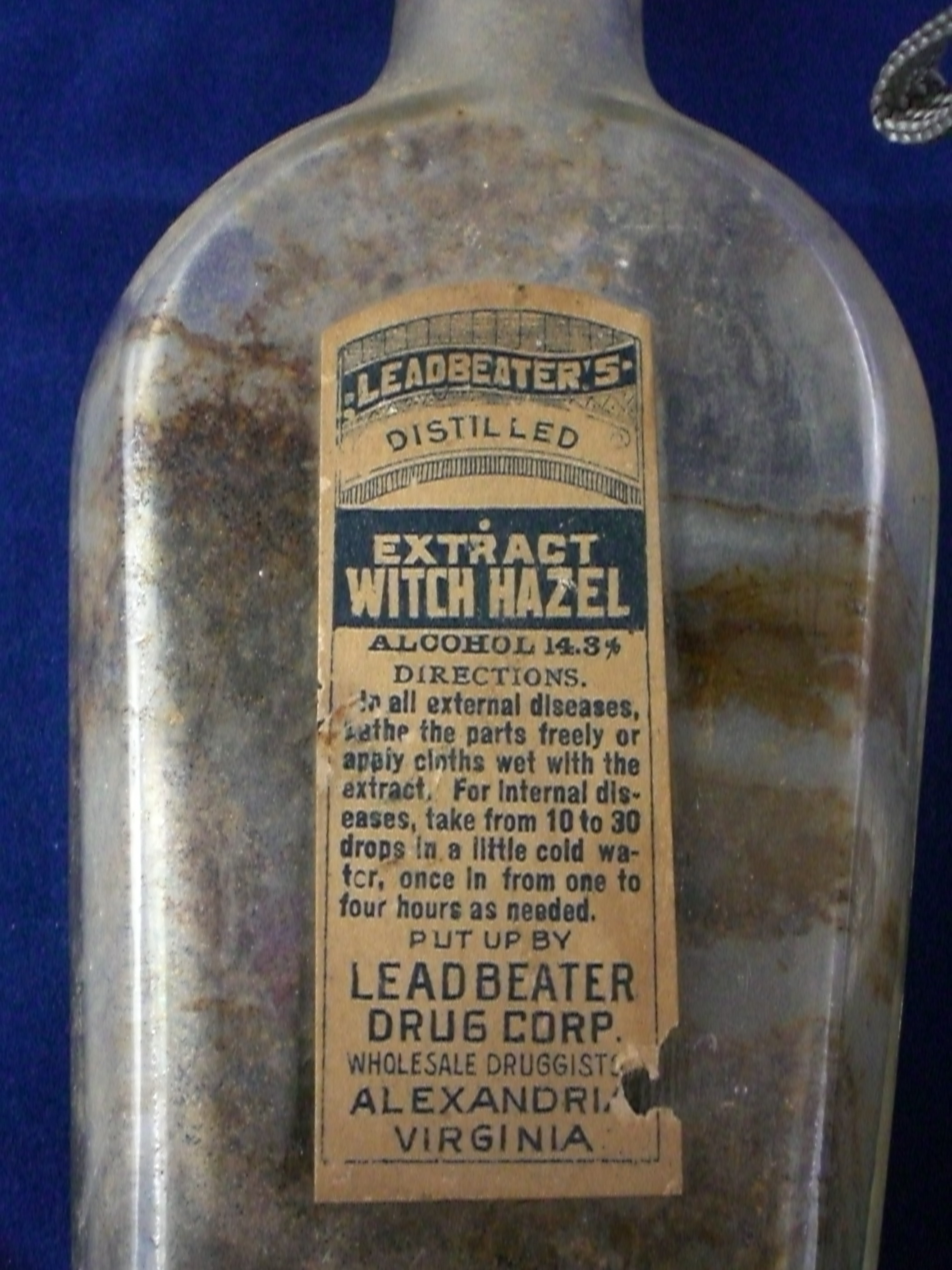 Witch hazel Stabler Leadbeater apothecary