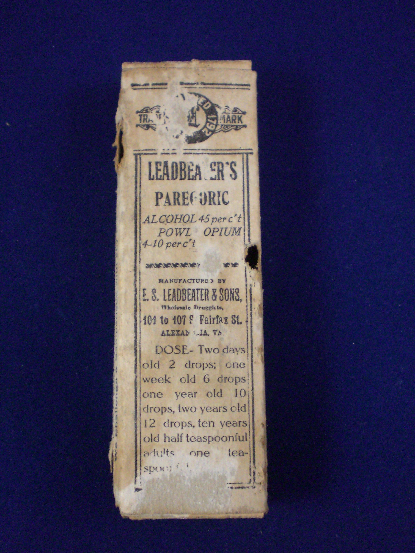 paregoric box stabler Leadbeater apothecary