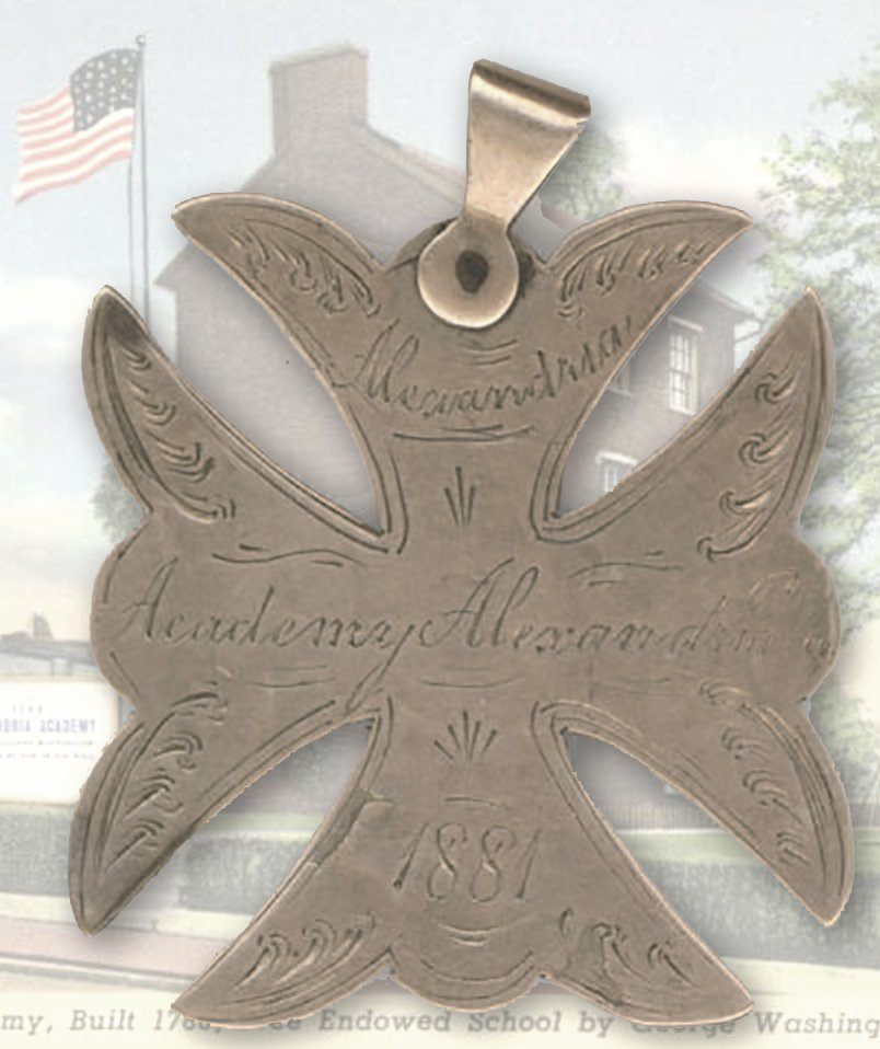 Alexandria, academy 1881 perfect lessons medal