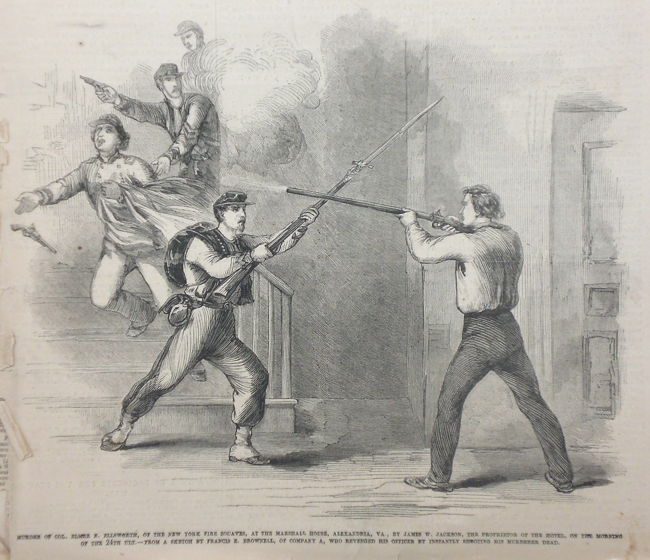 The murder of Colonel Elmer Ellsworth Alexandria Virginia