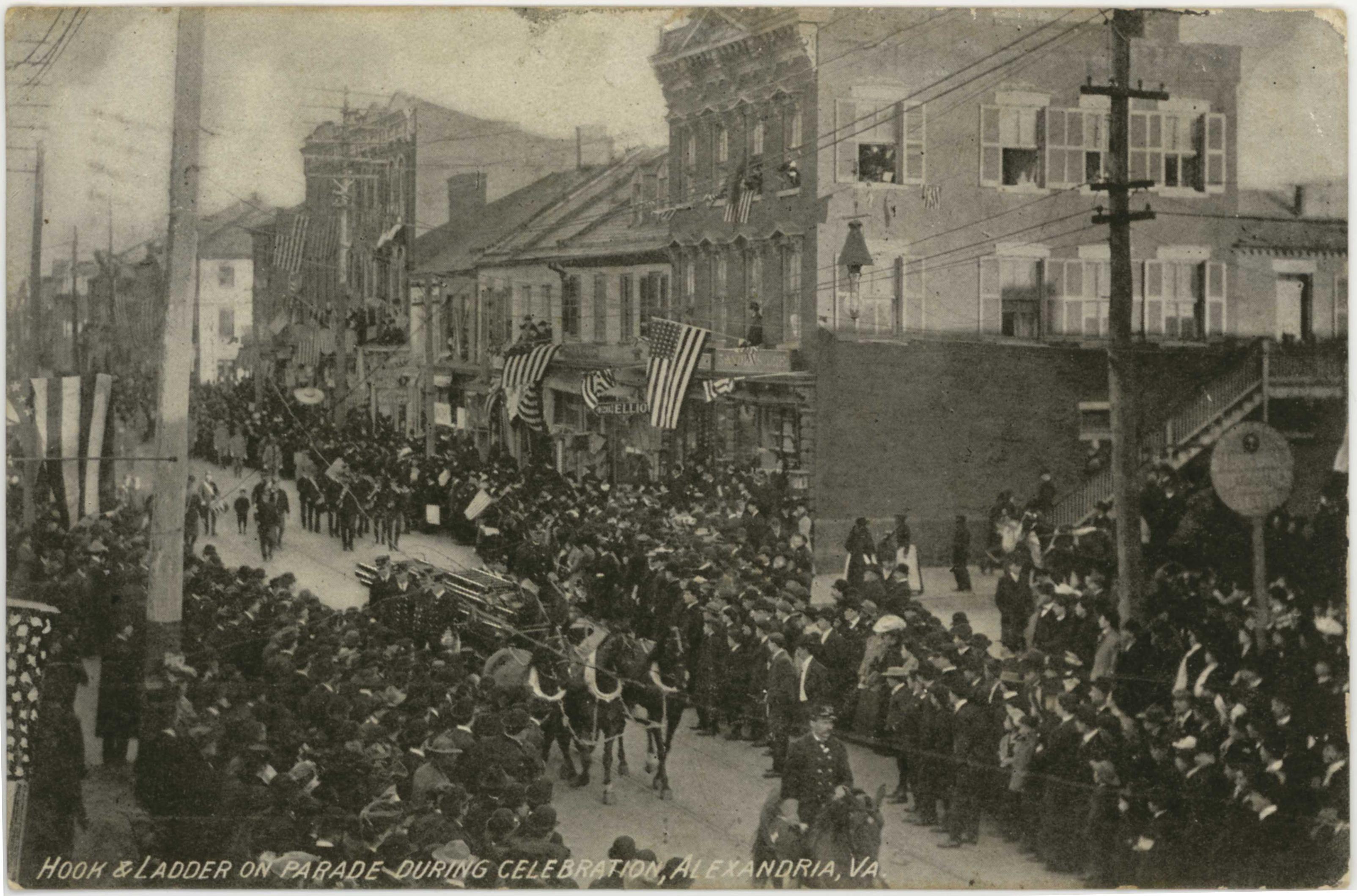 alexandria virginia hook and ladder parade 1909
