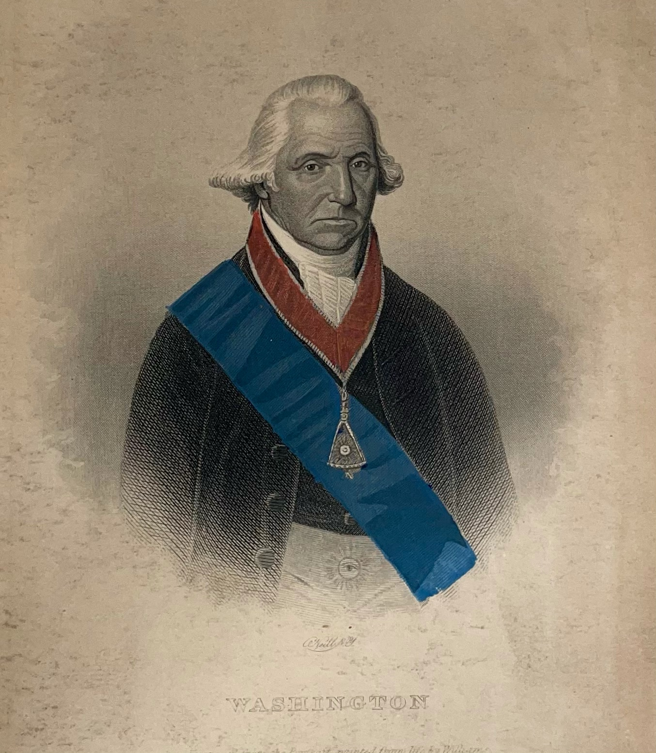 George Washington engraving by John A. O'Neill based on a William Joseph Williams portrait