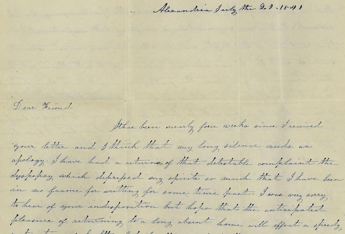 Letter to Henrietta Renyolds