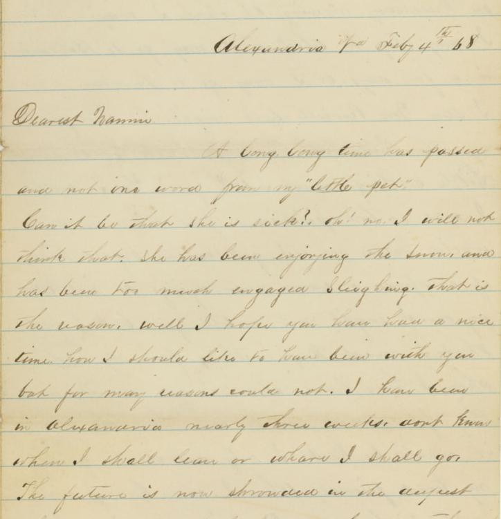 An Alexandria 1868 Love Letter