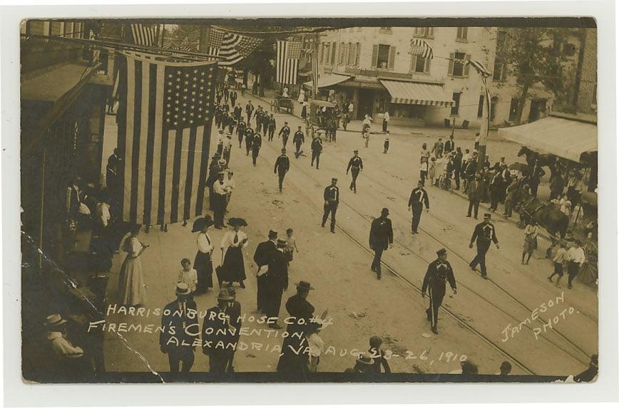 1910 firemans parade king street alexandria