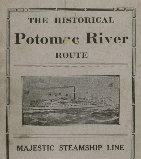 The historic Potomac River route majestic steamship line