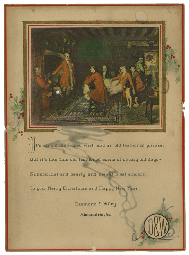 Merry Christmas and Happy new year from Desmond and Wiley, the 1920s, and the 2020s from OurHistoryMuseum